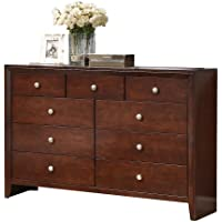 ACME 20405 Ilana Dresser, Brown Cherry Finish