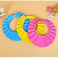 KING UP Safe Shampoo Shower Bathing Protection Bath Cap Soft Adjustable Visor Hat for Toddler, Baby, Kids, Children Eyes…