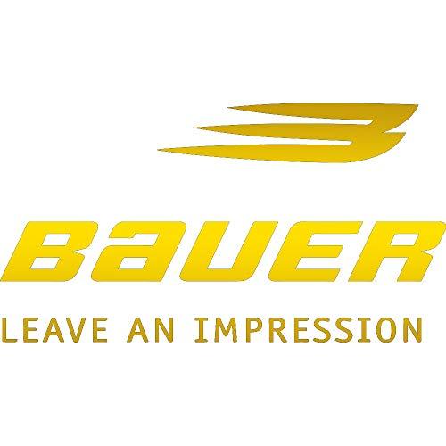 NBFU DECALS Logo Bauer 2 (Metallic Gold) (Set of 2) Premium Waterproof Vinyl Decal Stickers for Laptop Phone Accessory Helmet CAR Window Bumper Mug Tuber Cup Door Wall Decoration