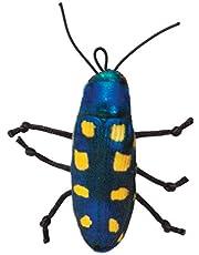 Jackson Galaxy Beetle Bat Around Realistic Ground Prey Cat Toy, Yellow