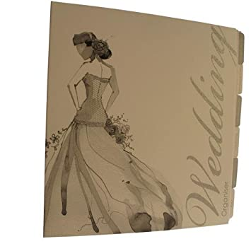 wedding planner organiser binder lady drawing design silver colour
