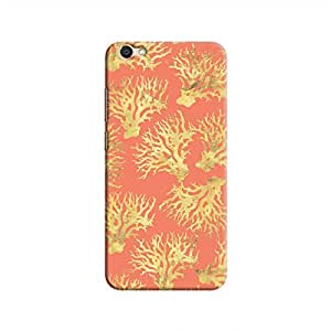 Cover It Up - Red Gold Nature Print V5 Hard Case