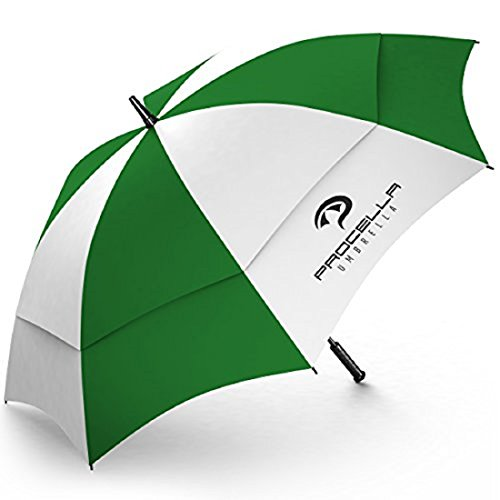 Golf Umbrella by Procella Umbrella 62 Inch Large Auto Open Rain & Wind Resistant...