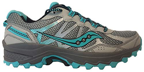 Saucony Shoes Women - Saucony Women's Excursion TR11 Running Shoe, Grey/Blue, 8 M US