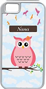 Rikki KnightTM Keep Calm and have a Cupcake Light Pink Color Design iPhone 4 & 4s Case Cover (White Rubber with bumper protection) for Apple iPhone 4 & 4s