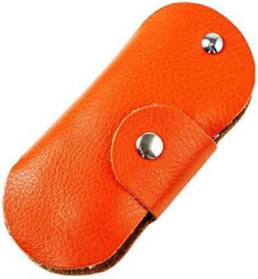 Genuine Leather Car Key Wallet with Key Ring and Hook