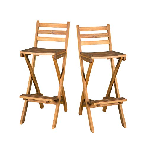 - Christopher Knight Home 295797 Atlantic Outdoor Folding Wood Bar Stools