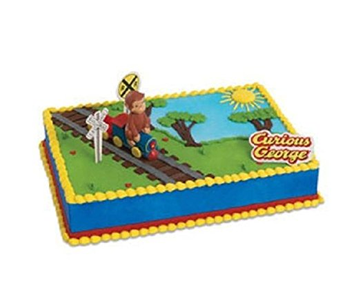 Curious George Cake Decoration - CURIOUS GEORGE birthday cake kit topper NEW!! by unbranded