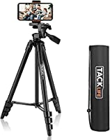 """TACKLIFE Tripod,Camera Tripods 136cm(54"""")With1/4"""" Mounting Screw for All Camera,Maximum Load 3kg,Phone Holder Compatible..."""
