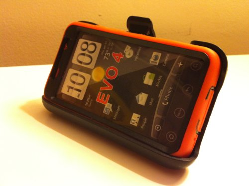 032884172047 - New Defender Case for Htc Evo 4g with Hip Holster That Doubles As a Media Stand Generic Otterbox Defender Series carousel main 4