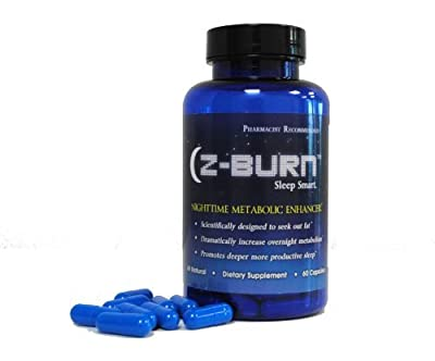 "Fitness One Formulas Z-burn -- 60 Capsules -- Night Time Fat Loss Supplement - ""Sleep Great, Lose Weight!"" Guaranteed Results"