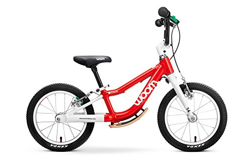 "Woom 1 Plus Balance Bike 14"""", Ages 3 to 4.5 Years, Red"
