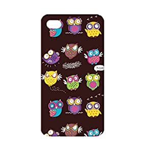 QLEAF Color Owls TPU Case for iPhone 4/4S