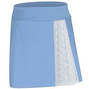 adidas Golf Women's Tour Accordion Skort, Bahia Light Blue, Small