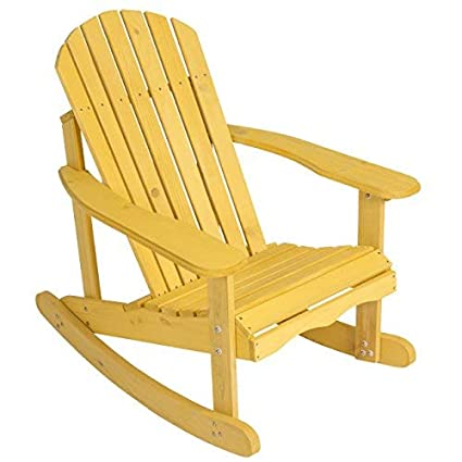 separation shoes 748eb b750f Best Choice Products Outdoor Adirondack Rocking Chair Natural Fir Wood Deck  Garden