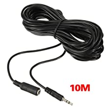 SODIAL(R) 32Ft/10M 3.5mm IR Repeater Extension Cable Extender Wire for Infrared Receiver