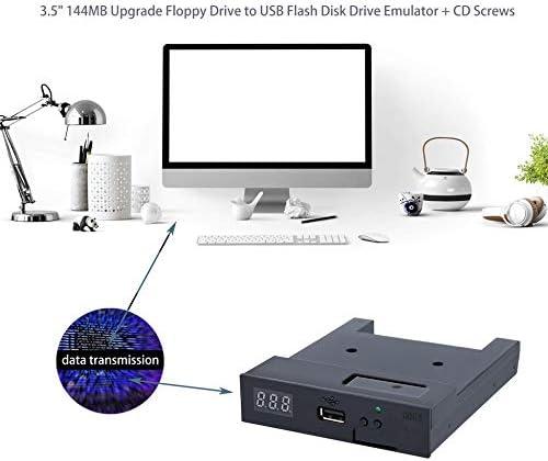 Negro SFR1M44-U100K 5V 3.5 1.44MB 1000 Unidad de Disquete a ...
