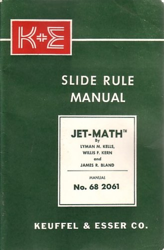 K + E SLIDE RULE MANUAL, JET-MATH ()