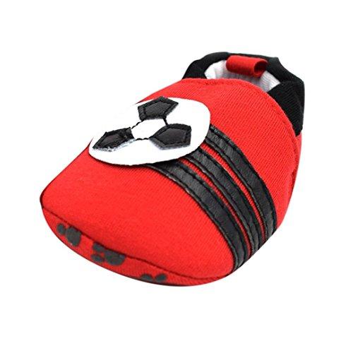 Jamicy® Baby Mädchen Jungen Schuhe niedlich lernen gute rutschfeste Soft Sole Kleinkind Schuhe Rot