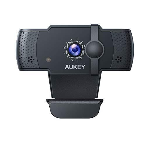 🥇 AUKEY Webcam 5 PM 1080p Autofocus con Microfonos de Reducción de Ruido