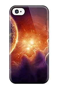 Durable Defender Case For iPhone 5 5s Tpu Cover(outer Space Burst Of Light )
