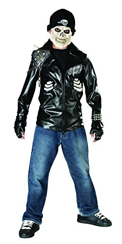 Ghost Face Costume Kids (Rubie's Death Rider Child's Costume, Medium)