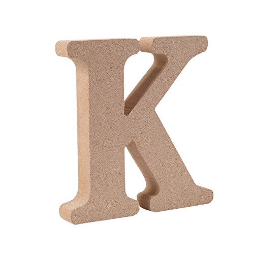 Sizet Wooden Alphabet Letters Wedding Birthday Party Home Decorations Present (k)