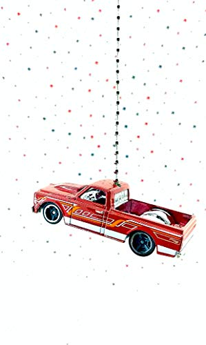 Chevy Diecast Car Ceiling Fan Light Pull Ornament 1/64 Scale (Red 1967 Chevy C10 Truck)