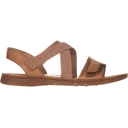 Womens Born Toe Sandals Open Britton Slide Casual Brown Leather 1HBHdnUP