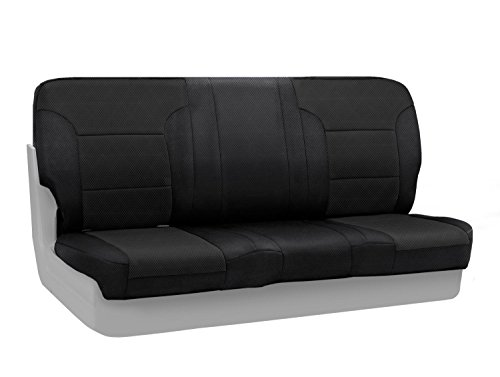 Coverking Custom Fit Front Solid Bench Seat Cover for Select Chevrolet S10 Models - Spacermesh Solid (Black)