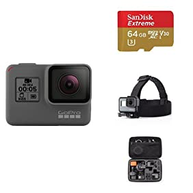 GoPro HERO5 Black w/ Memory Card, Head Strap and Carrying Case