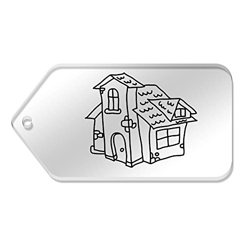 'Cosy House' van 10 X tg00064348 Mm 99 Labels Large Clear 51 wq1gSE1Z