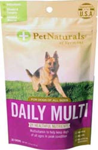 Pet Naturals of Vermont - Daily Multi for Dogs, Everyday Multivitamin Formula with 28 Canine Specific Nutrients, 30 Bite-Sized Chews