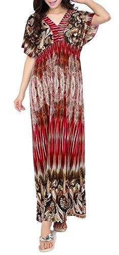 NY Deal Women's Plus Size Maxi Dress, 70-Red, 4XL