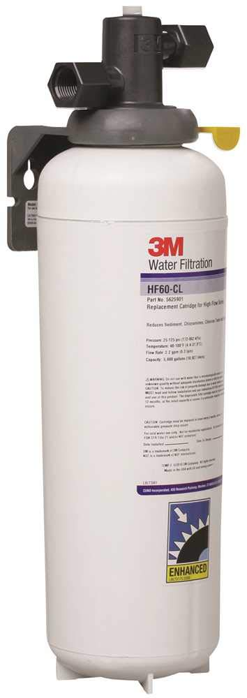 3M Water Filtration System for Commercial Cold Beverage Machines, Reduces Bacteria, Sediment, Corrosive Chloramines, Chlorine Taste and Odor, Cysts, 2.2 GPM, 4,700 Gallon Capacity