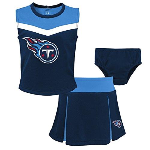 Outerstuff Tennessee Titans NFL Toddler Girls Spirit Cheer Cheerleader 2 Piece Set ()