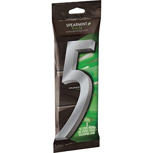 - Wrigley Gum 5 Sugar Free Gum, Rain, 3 ct