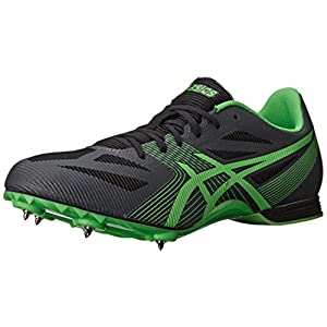 ASICS Men's Hyper MD 6 Track And Field Shoe,Charcoal/Flash Green/Onyx,13 M US