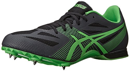 ASICS Men's Hyper MD 6 Track And Field Shoe,Charcoal/Flash Green/Onyx,11 M US