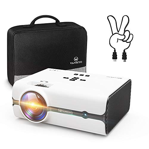 VANKYO Leisure 410 Portable Projector with 2600 Lux, Support HD 1080P, Mini Projector with Dual-Fan Cooling System,Compatible with HDMI/VGA/USB/SD/AV for Home Entertainment, Party, Video Game, Outdoor
