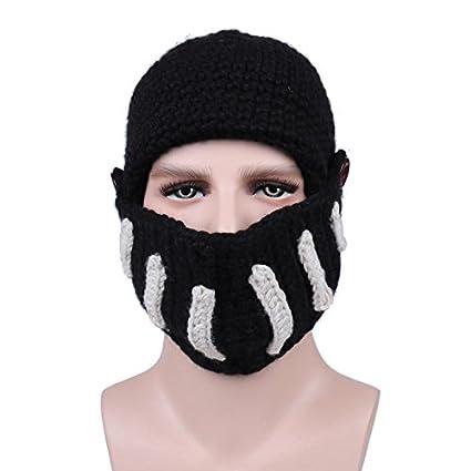 4791659742d KKY Outdoor Cycling Rome Knight Knitting Hat Winter Ski Mask Cap Manual  Knitting Men  Amazon.in  Car   Motorbike