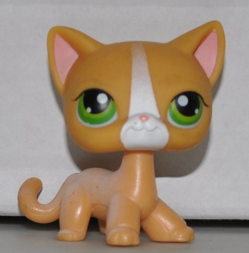 Shop Figure Pet Loose Littlest (Shorthair Cat #72 (Orange, Green Eyes, White Stripe on Nose) Littlest Pet Shop (Retired) Collector Toy - LPS Collectible Replacement Single Figure - Loose (OOP Out of Package & Print))