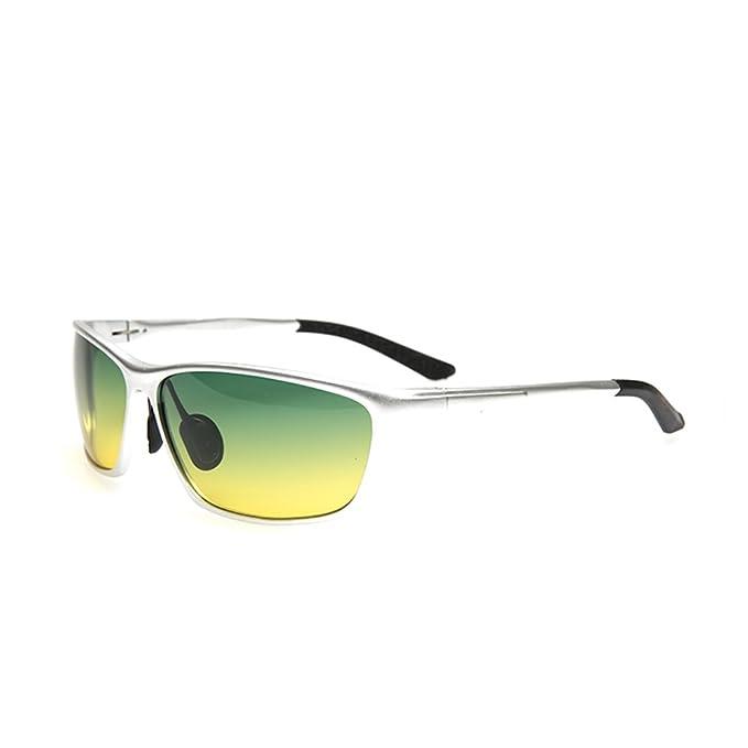 ZWX Lentes polarizadas/Gafas de sol especiales para conductores/Conducir día y noche gafas/Gafas de sol de los hombres/Gafas de sol/Conducción de espejos-B: ...