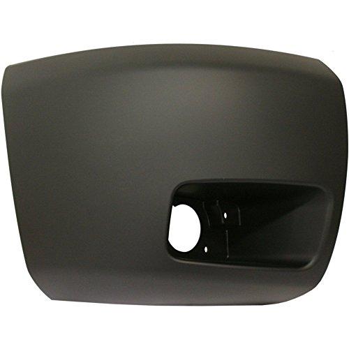Bumper End for Chevrolet Silverado 1500 07-13 Front Primed Face Bar Cap W/Fog Light Hole CAPA Certified Right Side Plastic
