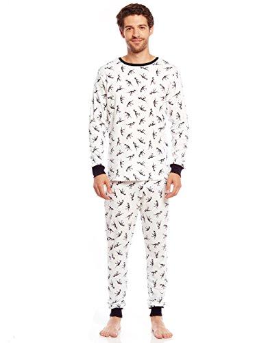 Leveret Men's Dinosaur 2 Piece Pajama Set 100% Cotton (Large)