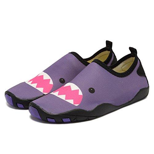 Cior Fantiny Gutter Og Jenter Vann Sko Lett Komfort Eneste Gangatletisk Slip På Aqua Sokk (småbarn / Liten Gutt / Stor Gutt) W.purple