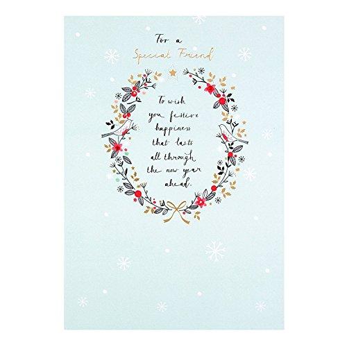 Hallmark Friend Christmas Card 'With Love' - Medium - Friends Christmas Card
