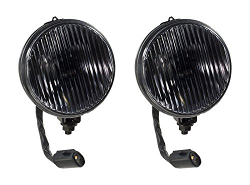 1987-1993 Mustang GT or Cobra Complete Smoked Fog Lights and H3 Bulbs ()