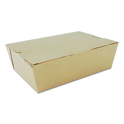 Southern Champion 0733 7-3/4'' Length x 5-1/2'' Width x 2-1/2'' Depth, Kraft Color, ChampPak Carryout Box (Case of 200) by Southern Champion