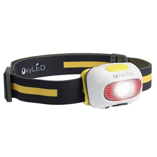 OxyLED USB Rechargeable LED Headlamp 9 Modes Waterproof Adjustable Headlight Sport Flashlight